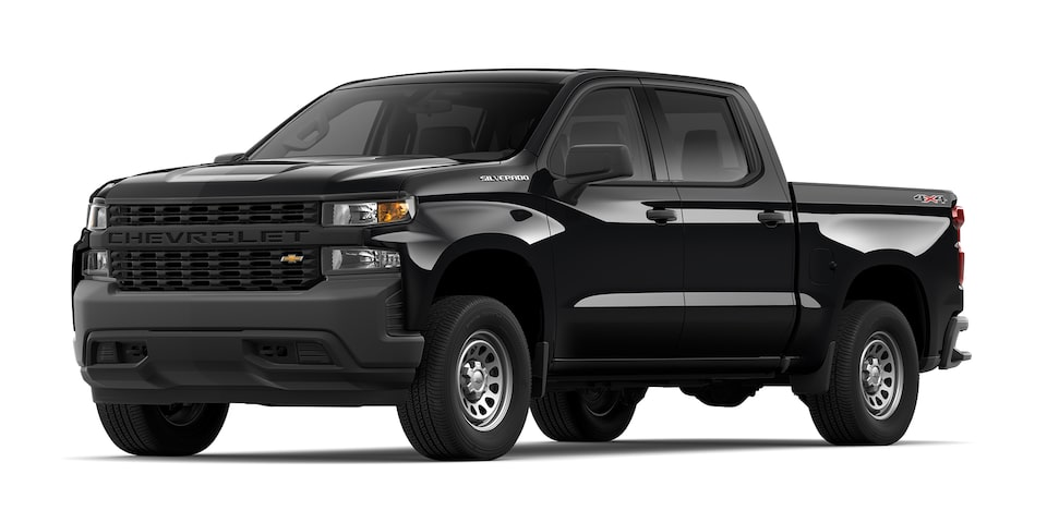 Chevrolet Silverado 2021 color negro